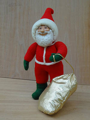 Sculpture - Santa Sr. - Christmas Spirit by David Wiles