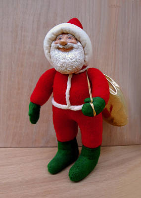 Sculpture - Santa Sr. - Merry Christmas by David Wiles
