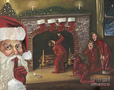 Santa Claus Painting - Santa Surprise by Kimberly Daniel