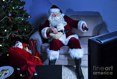 Couch Potato Photograph - Santa Takes A Break by Diane Diederich