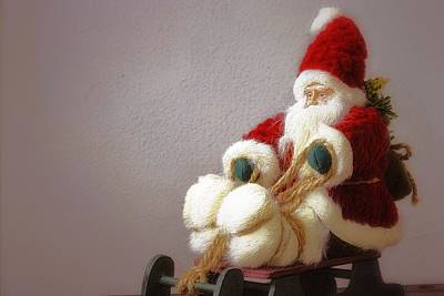 Photograph - Santa Takes His Sled by Nadalyn Larsen