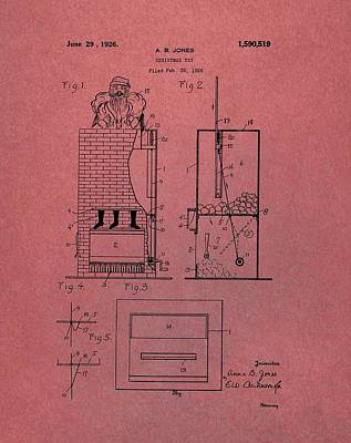 Santa Toy Patent Art Print by Dan Sproul