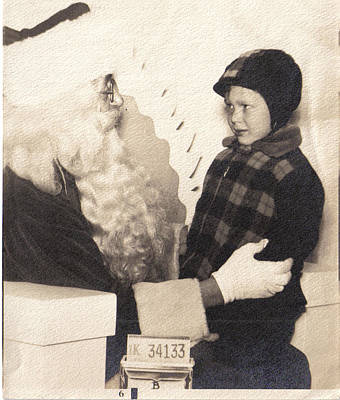 Art Print featuring the photograph Santa Visit by James McAdams