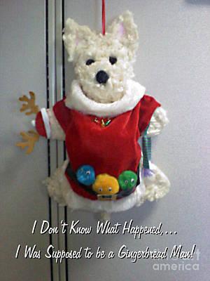 Westie Puppies Mixed Media - Santa Westie by Dianne Wendell