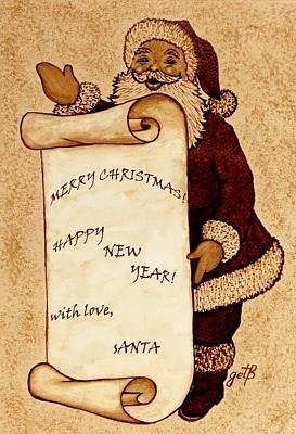 Santa Claus Painting - Santa Wishes Digital Art by Georgeta  Blanaru