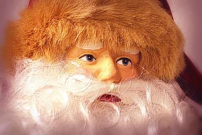 Photograph - Santa With Big Blue Eyes by Nadalyn Larsen