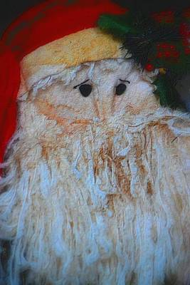 Photograph - Santa With Button Eyes by Nadalyn Larsen