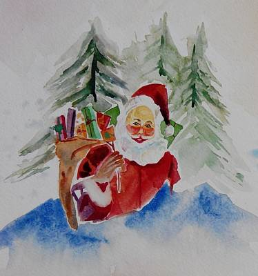 Painting - Santa With Gifts  by Geeta Biswas