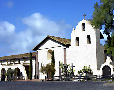 Photograph - Santa Ynez Mission Solvang California by Kurt Van Wagner