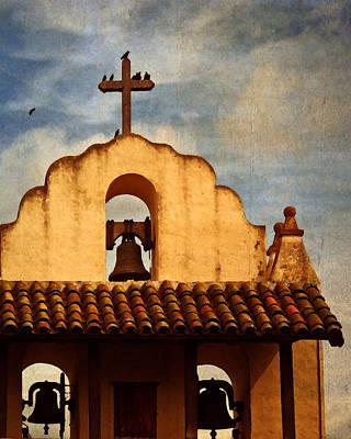 Photograph - Santa Ynez Steeple by Timothy Bulone