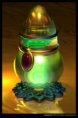 Decanters Digital Art - Santalum Vert  by Ann Stretton