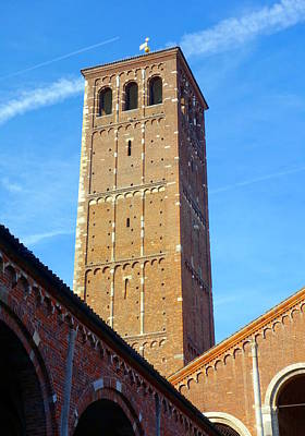 Photograph - Sant'ambrogio Tower by Valentino Visentini