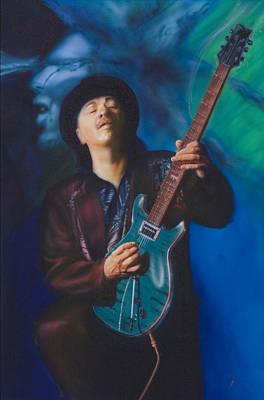 Santana Painting - Santana by Angie Villegas