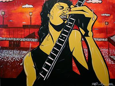 Carlos Santana Painting - Santana by Jose A Gonzalez