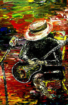 Music Paintings - Santana by Mark Moore