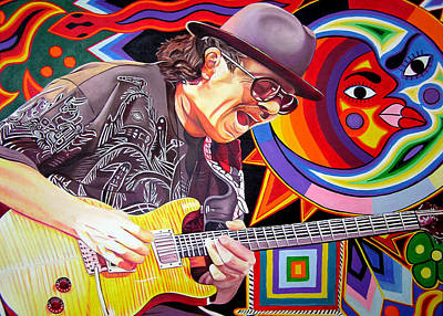 Santana Painting - Santana Mystic Vision by Joshua Morton