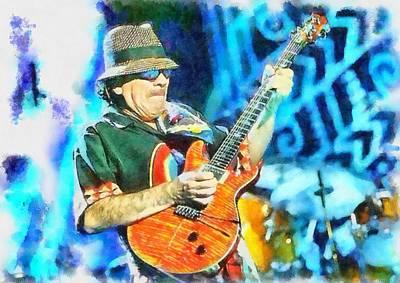 Santana Painting - Santana by Patrick OHare