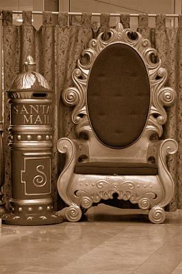Photograph - Santa's Chair - Sepia by Carol Vanselow