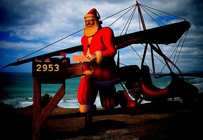 Digital Art - Santa's Last Delivery by Nancy Pauling