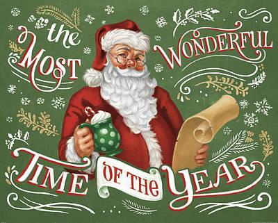 Wonderful Painting - Santas List II by Janelle Penner