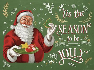Christmas Cookies Painting - Santas List IIi by Janelle Penner