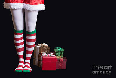 Elf Photograph - Santas Little Helper by Edward Fielding