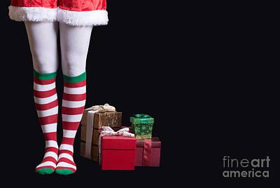Christmas Card Photograph - Santas Little Helper by Edward Fielding