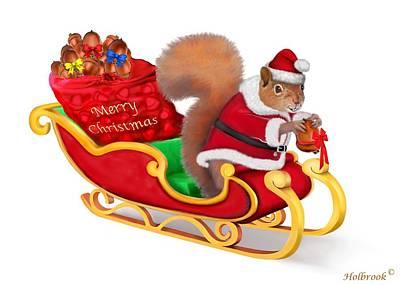 Acorn Digital Art - Santa's Little Helper by Glenn Holbrook