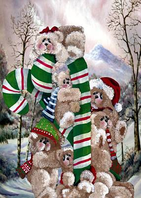 Santa's Little Helpers Art Print by Ron and Ronda Chambers