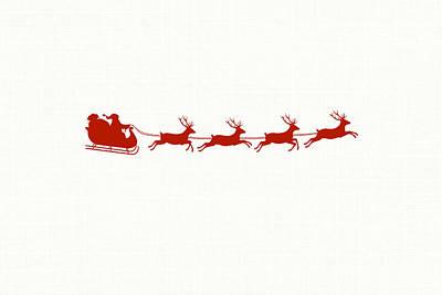 Holidays Digital Art - Santa's Sleigh by Chastity Hoff