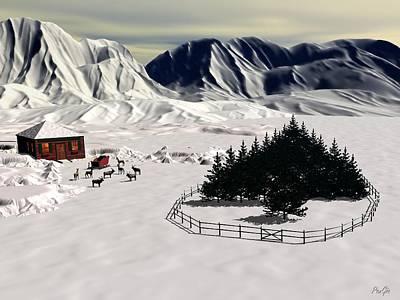 Digital Art - Santa's Tree Farm by John Pangia