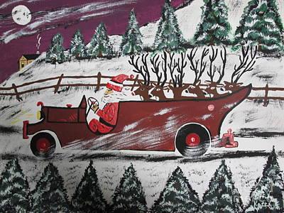 Santa's Truckload Art Print by Jeffrey Koss