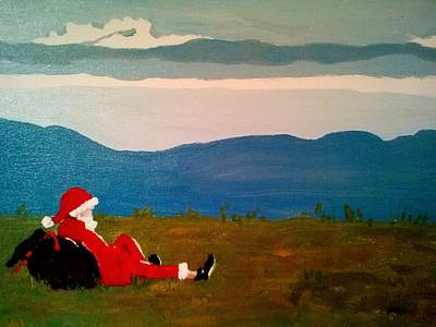 Pause Painting - Appalachian Santa by Elizabeth DeLap