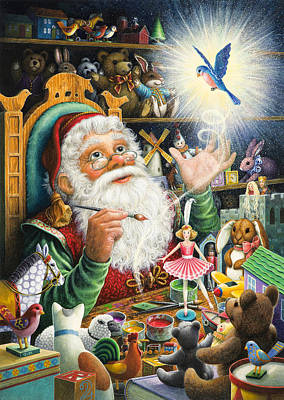 Santa's Workshop Art Print