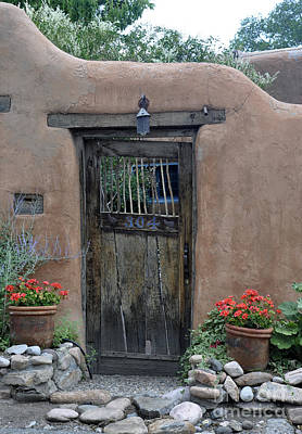 Photograph - Sante Fe Door by Minnie Lippiatt