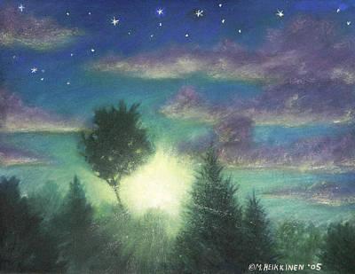 Pastel - Santee Sunset 03 by Michael Heikkinen