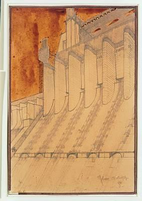 Futurism Architecture Wall Art - Photograph - Santelia Antonio, Electric Power Plant by Everett