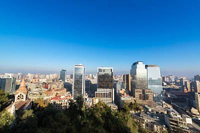 Santiago Chile Cityscape Art Print