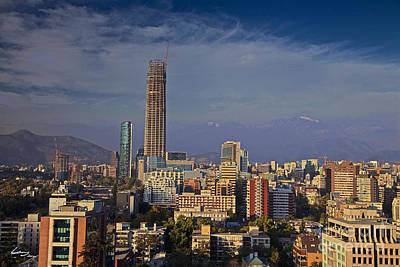 Cityscape Photograph - Santiago De Chile Skyline by T Lang