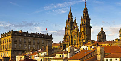 Art Print featuring the photograph Santiago De Compostela Cathedral Galicia Spain by Pablo Avanzini