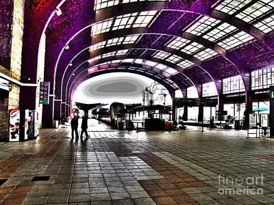 Digital Art - Santiago De Compostela Station by Andrew Middleton