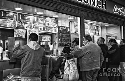Lunch Time Photograph - Santiago Lunch Mono by John Rizzuto