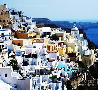 Greek Photograph - Santorini Greece by Cimorene Photography