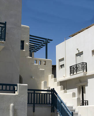 Photograph - Santorini Apartments by Don McGillis