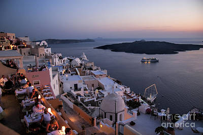 Santorini Photograph - Santorini At Dusk by David Smith
