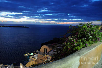Photograph - Santorini At Night by Haleh Mahbod