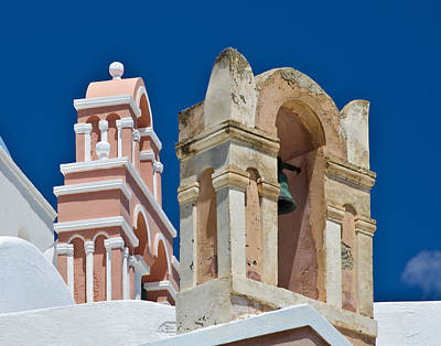 Wall Art - Photograph - Santorini Bell Towers by Jack Daulton