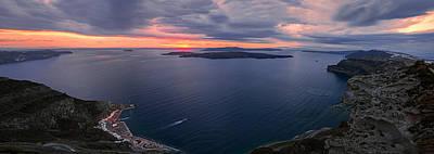 Santorini Caldera Panorama Art Print