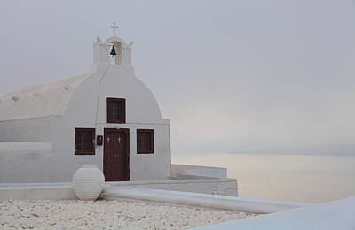 Photograph - Santorini Church by Brian Grzelewski