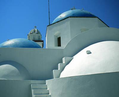 Art Print featuring the photograph Santorini Church Greece by Colette V Hera  Guggenheim